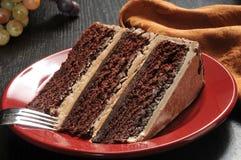 巧克力浓咖啡蛋糕 免版税库存图片