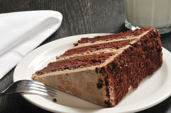 巧克力浓咖啡蛋糕 免版税库存照片