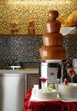 巧克力涮制菜肴 库存照片