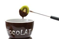 巧克力涮制菜肴 库存图片