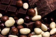 巧克力混合关闭 免版税库存图片
