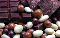 巧克力混合关闭 库存照片
