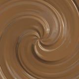 巧克力漩涡 免版税库存照片