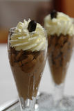 巧克力点心奶油甜点 免版税库存照片