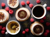 巧克力点心 除说谎的莓之外 免版税图库摄影