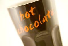 巧克力热杯子 免版税库存照片