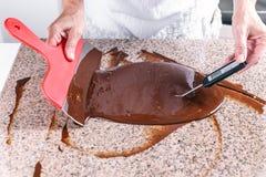 巧克力熔化了 免版税图库摄影