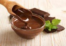 巧克力熔化了 免版税库存照片