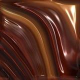 巧克力熔化 库存图片
