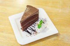 巧克力熔岩蛋糕 库存照片