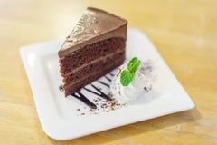 巧克力熔岩蛋糕 免版税库存照片