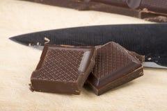 巧克力片二 库存照片