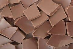 巧克力片纹理背景 库存图片