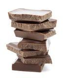巧克力片 免版税库存照片