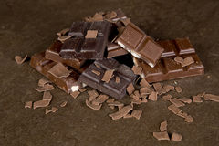 巧克力片- 03 免版税库存图片