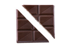 巧克力片 库存照片