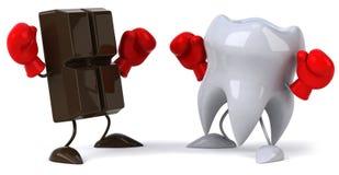 巧克力牙 库存照片
