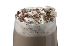 巧克力牛奶饮料 库存照片