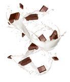 巧克力牛奶 免版税库存照片