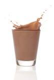 巧克力牛奶splah 库存照片