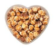 巧克力玉米花 免版税库存照片
