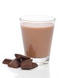 巧克力玻璃牛奶 免版税图库摄影