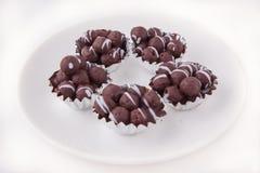 巧克力球 库存图片