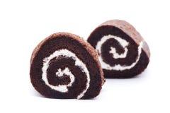 巧克力瑞士卷 免版税库存图片