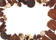 从巧克力甜点的框架 库存照片