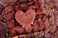 巧克力甜点 免版税图库摄影
