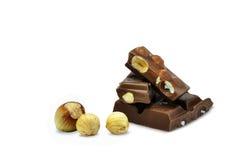 巧克力用榛子 库存图片