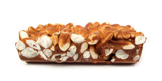 巧克力用米 免版税库存照片