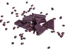 巧克力用coffe豆 免版税库存图片