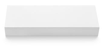 巧克力的平的亭亭玉立的纸板箱模板在白色 免版税库存图片