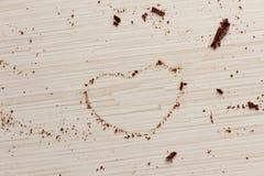 从巧克力的心脏形状 免版税图库摄影