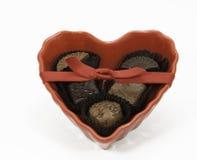 巧克力的心脏 免版税库存图片