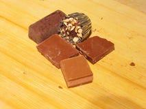 巧克力的构成 免版税库存照片