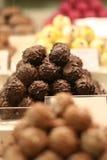巧克力空白查出的块菌 免版税库存照片