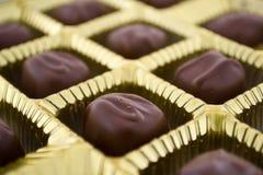 巧克力箱子 免版税库存照片