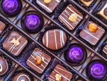 巧克力箱子 免版税库存图片