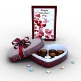巧克力箱子 图库摄影