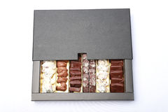 巧克力箱子 库存照片