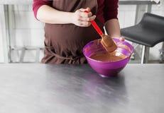 巧克力糖制造业  免版税库存照片