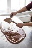 巧克力糖制造业  免版税图库摄影