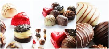 巧克力糖拼贴画 免版税库存图片
