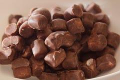 巧克力糖果特写镜头 库存图片