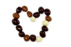 巧克力糖的心脏 库存照片