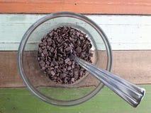 巧克力糖洒 免版税图库摄影