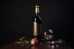 巧克力红葡萄酒 免版税库存图片
