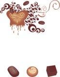 巧克力美食 皇族释放例证